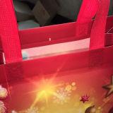 高品質の標準的なクリスマスのギフトの非編まれたショッピング・バッグ