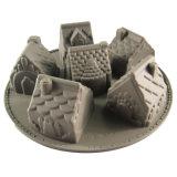 6つのキャビティ型のシリコーンのケーキ型ハンドメイド適用範囲が広い型のビスケット型