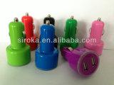 Double USB chargeur de véhicule de 2 ports coloré par 2.1A+1A du chargeur 5V de véhicule de la qualité mini pour le téléphone mobile