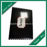 Llano negro ondulado caja de papel bragas