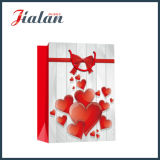 Dia dos Namorados Arte Papel Red Heart Shopping Gift Paper Bag