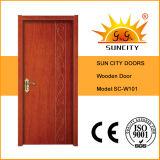 Дверь твердой древесины безопасности входа роскошная составная с после того как я покрашены (SC-W101)