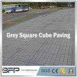 Pedra engrenada cinzenta chinesa do godo na forma quadrada para pavimentar