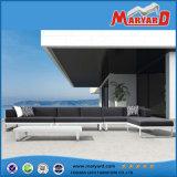 Aluminio Selectional Lounge Sofá Juego Patio Metal Muebles de exterior