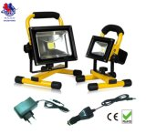 10W Portable Emergency &Rechargeable LED Flood Lamp