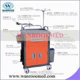 Five Drawers를 가진 ABS Hospital Medical Cart