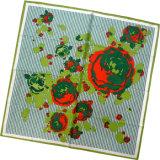 fashion Printed Square Silk 숙녀 스카프 (HC007-1)