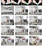DIY sistema de visualización modular Exposición reutilizable portátil con estantes de PVC