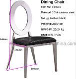 Ovaler rückseitiges Leder-Edelstahl, der Stuhl für Hauptmöbel speist