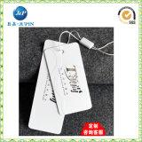 Tag de papel impresso personalizado do cair para o vestuário (JP-HT068)