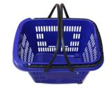 Enregistrer les paniers à provisions en plastique de roulement avec le traitement 090512