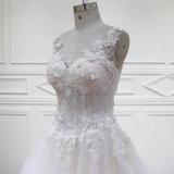 A - la ligne 3D fleurit le lacet perlant les robes nuptiales