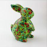 Contenitore di soldi di ceramica a forma di del coniglio con la decalcomania piena