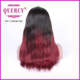 Бразильский парик фронта шнурка для женщин с естественным волосяным покровом, прямой, все цветы имеющийся