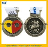 Medalhas 3D do costume 2/concessões laterais do metal liga do zinco