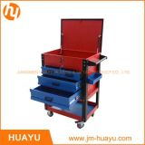 26インチSheet Metal Professional 6 Drawer Rolling Tool Cabinet、Blue/Red Powder Coated Garage Tool Cart