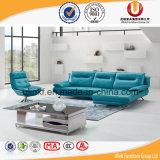 Sofá moderno azul del cuero de la sala de estar con la esquina (UL-Z612)