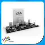 Présentoir acrylique de bijou de modèle de luxe avec le logo de marque