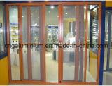 Puerta deslizante de cristal de aluminio con la red de mosquito