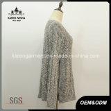 Vestiti del commercio all'ingrosso del maglione della chiusura lampo del Knit del cavo delle signore