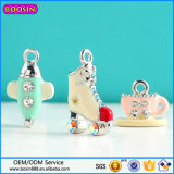 2015 Hot Selling Hight Quality Rhinestone Skates Pendant for Necklace