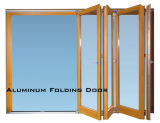 Aluminiumrahmen-Bi-faltende Glastür