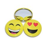 75mm Newest Model Popular Colorful Glass Make up Mirror