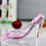 Chaussures en cristal de Cendrillon de seul rose de modèle pour des cadeaux de faveur de mariage