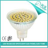 ガラス60PCS 2835SMD 3W GU10 LEDのスポットライト