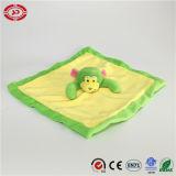 Cobertor de lavagem do bebê do luxuoso do cuidado do macaco macio extravagante amarelo