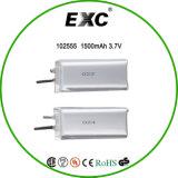 102555高品質の高容量3.7ボルト李イオン電池1500mAh