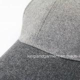 Casquette de baseball grise ordinaire chaude de qualité de polyester et de laines