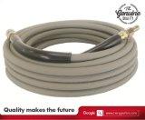 Boyau en caoutchouc flexible 4000psi/6000psi/12000psi de lavage de gicleur de tresses de fil d'acier