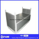 Industrieller Metallumsatz-Ablagekasten, der Zahnstange stapelt