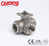 Três Way Ball Valve com Mounting Pad