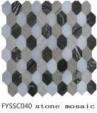 El Último Mosaico de Piedra Hexagonal del Material de Construcción 2016 del Azulejo de Suelo (Fyssc042)