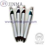 Le crayon lecteur de bille en plastique d'hôtel de cadeaux de promotion Jm-6011 avec un contact d'aiguille