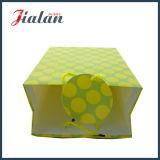 ダイヤモンドの形の黄色カラーは安い卸売のカスタム紙袋に付ける