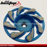 Roda contínua de moedura de pedra do copo do diamante da matriz de alumínio de 4 polegadas