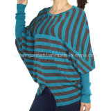 Женщины фасонируют после того как они связаны вокруг одежд свитера втулки шеи длинних (L15-038)