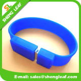 Promocional Gift Wholesale Rubber Bracelet USB Flash Drive (SLF-RU011)
