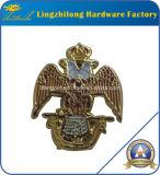 Distintivo massonico di Pin del risvolto di disegno dell'aquila da 32 gradi