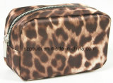 Saco extravagante do cosmético do arti'culo de tocador do curso do leopardo da forma
