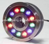 Luz de la fuente de IP68 12W RGB LED para las aplicaciones submarinas