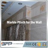 Plinth de mármol para la decoración de la sala de estar/del pasillo/del cuarto de baño con el tratamiento del borde de Ogee