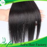 絹のまっすぐで加工されていないインドのVriginの人間の毛髪の拡張