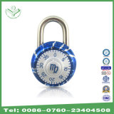 40mm Aluminum Alloy Combination Padlock com Zodiac Symbol Blue (1503B)