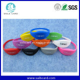 13.56MHz S50 RFID Silicone Wristband con Personalized Logo
