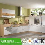 Bater para baixo o gabinete de cozinha simples do metal do projeto moderno da estrutura do estilo