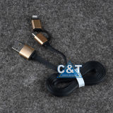 2in 1 cable de carga USB de sincronización de datos para iPhone 6